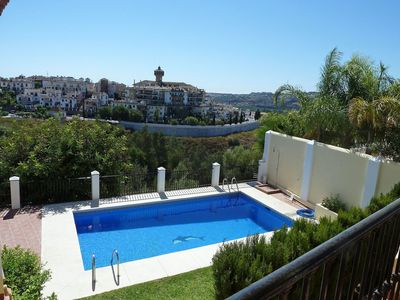 Photo for Beautiful apartment for 7 people with A/C, WIFI, private pool and TV