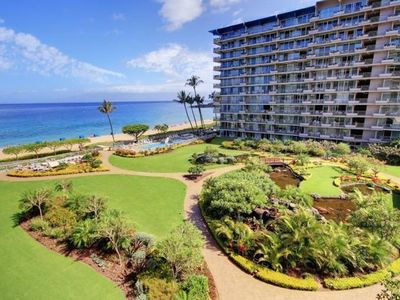 Photo for Beautiful Ocean View 1 bed / 2 bath corner unit on Kaanapali Beach at the Whaler