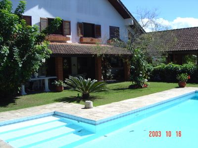Photo for Gorgeous Sobrado with pool and barbecue for 15 people, 600sqm of construction.