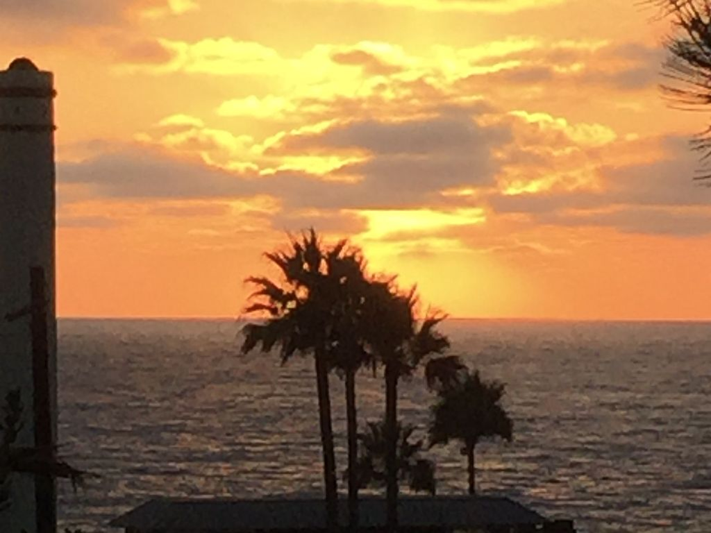 Another beautiful sunset at condo 444 at Chateau L'Auberge Del Mar