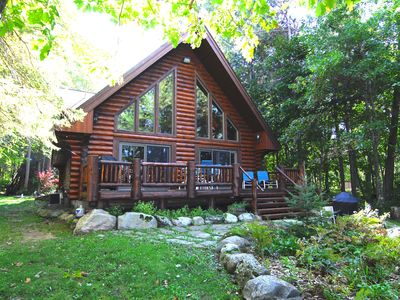 Photo for Eaglesnest-LOG HOME ON LAKE CHIPPEWA--Pontoon Available for rent 1055.00 tax inc