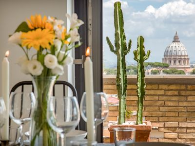Photo for Apartment Vatican 5A | Terrace with view of Saint Peter's Basilica