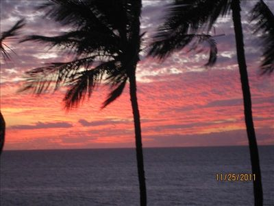 Turtles, Sunsets and Spectacular views from our Lanai All Day and Night Long.