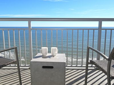 Photo for Stunning Ocean Front Views with  Jet Tub, Private Balcony,  Modern Decorations!