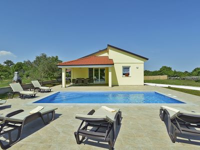 Photo for Impressive villa with private pool, 3 bedrooms, 2 bathrooms, washing machine, air conditioning, WiFi, children's playground, terrace and barbecue