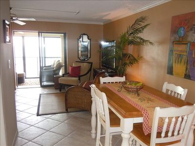 Beach Front Dining - just outside Kitchen door