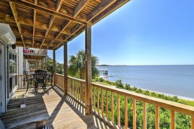Escape to the sunshine by staying in this vacation rental condo in Cedar Key!