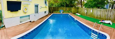 Photo for Huge Pool with Great Location! 3 Blocks to Beach! Sleeps up to 15!