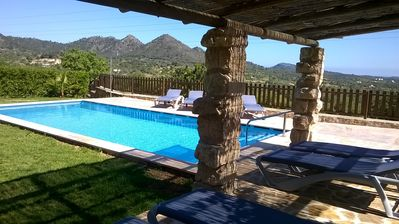 Photo for Mallorca, finca with views to the sea, 8 pers., Heated pool, heating