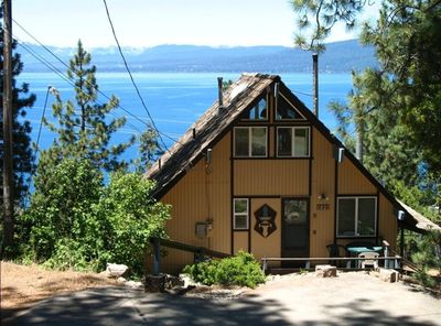 Exterior of  Sunset Chalet  overlooking  Lake Tahoe