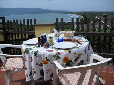 An al fresco lunch with a view on the upper terrace!