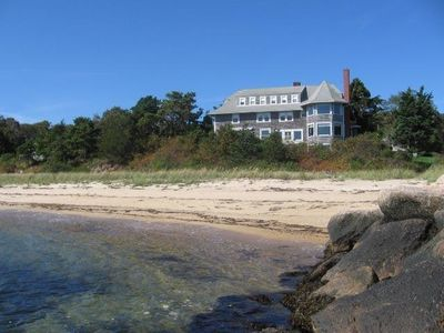 View of Olcottage from the private beach