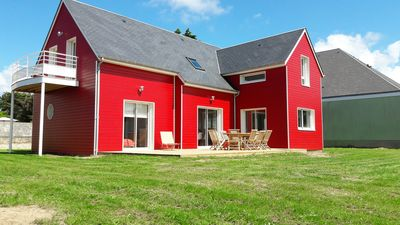 Photo for Luxury wooden house 50m from the beach - 12 pers - Denneville - Cotentin