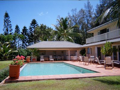 Photo for Beachfront Paradise with Infinity Pool steps from the longest beach in Hawaii!