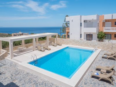 Photo for Villa Alexander 2 Bedroom Apartment close to Beach with Seaview and Pool