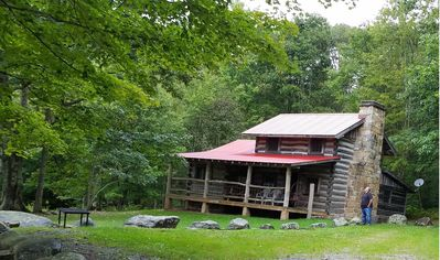 Historic Log Cabin near Williams River and Cranberry Glades
