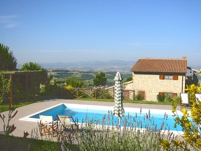 Photo for Villa with private pool and views in green Umbria