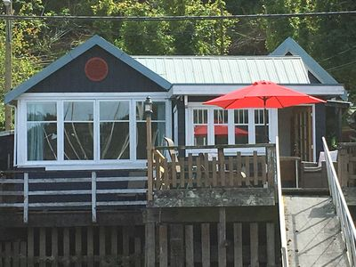 Photo for Charming Waterfront Cottage with ocean views over Cowichan Bay