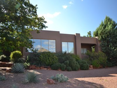Photo for Magnificent southwest Sedona home with Red Rock Views, hot tub, central location