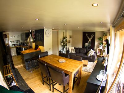 Photo for Tignes Apartment on the ground floor of a chalet, facing south, ski in ski out, WIFI access