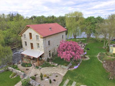 Photo for Island Mill Getaway~Couples~Private Country Suite~Waterfalls~Hot Tub~Boats~Bikes