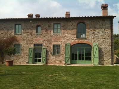 Photo for Elegant Tuscan country house with garden and view near Florence!
