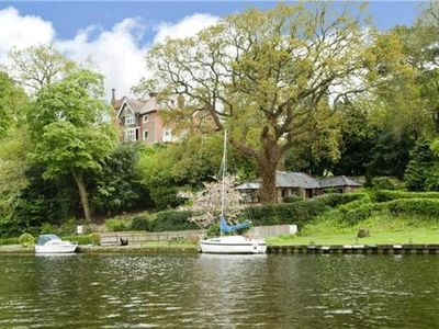 Photo for Idyllic Riverside Holiday Cottage. Pet Friendly. Riverside Pub Nearby