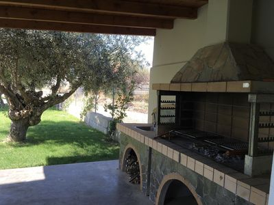 BARBEQUE The BBQ is located near the garden and we provide you the charcoals