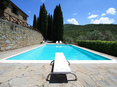 Photo for Farmhouse in the hills with panoramic view and swimming pool