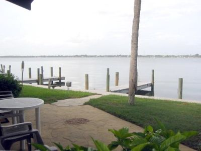 View of Intracoastal and Boat Docks from Patio