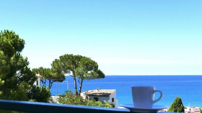 Photo for Casa del sole, breathtaking view of the Pontine islands and the Circeo