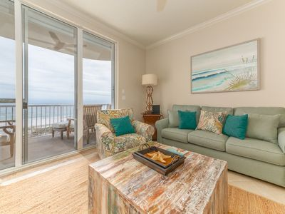 Photo for Inviting Condo w/ Gulf-Front Balcony, On-Site Pool, On The Beach