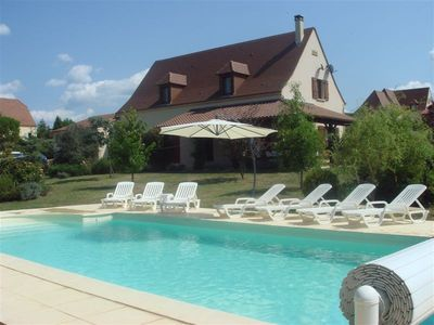 Photo for Luxury house nr. Sarlat HEATED Pool, 5min walk from village centre & river