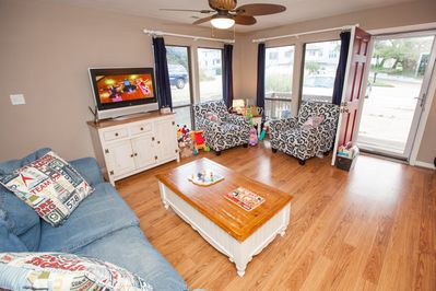 2265:  Living Area of Completely Remodeled Front Unit.  Condo updated in Jan '14