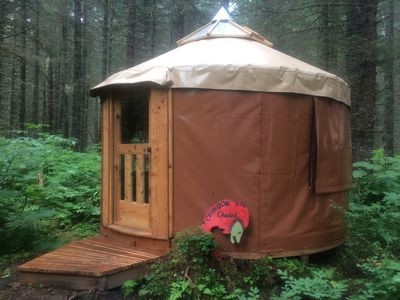 Photo for Quiet Yurt - Unique Alaskan Experience!  Grizzly Grotto