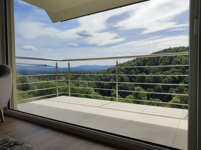 A view of the living room terrace of the valley