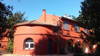 Photo for Provencal property with swimming pool in a wooded area, access to the sea by bike