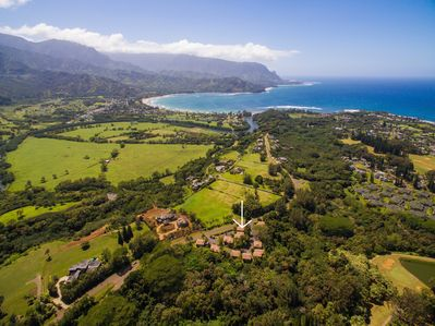 Located on Hanalei Ridge, small intimate complex, walk to beach