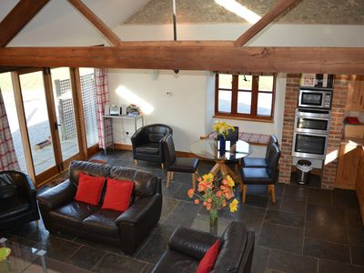 Photo for Stunning detached character barn in idyllic countryside near Bridport & beaches