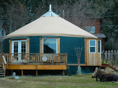 Photo for First Class Yurt with Everything. Perfect for couple or family. View! Location!