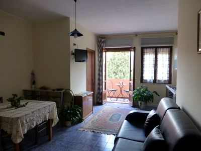 Photo for Bright apartment by the sea surrounded by greenery, private parking space, Wi-Fi