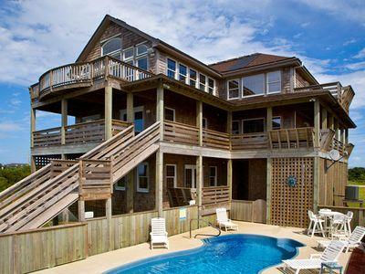 Photo for Unforgettable Sunsets! Soundfront w/ Elevator, Saltwater Pool, Hot Tub, Game Rm
