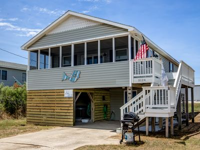 Photo for Blue Bungalow | 625 ft from the beach | Hot Tub, Dog Friendly