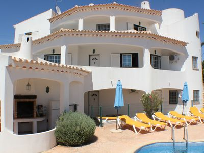 Photo for large three bed two bath  apartment, Albufeira sleeps 6-8 pool, wifi, aircon