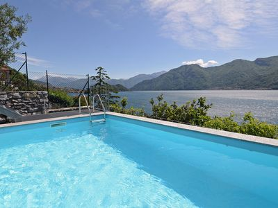 Photo for Luxury apartment with private pool in Sala Comacina for 2-4 people
