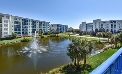Photo for Beautiful 2/2 pond view condo with a clean coastal flair .OW11-302