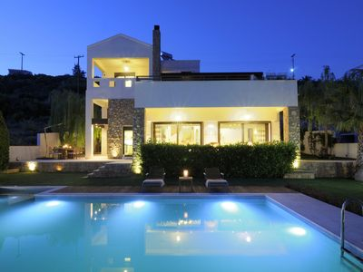 Photo for Luxury in Theologos,Malesina,pool,view,90min from Athens.For demanding guests!