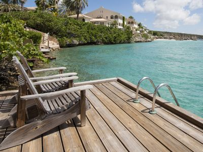 CURACAO OCEAN FRONT APARTMENT WITH PRIVATE DOCK AND A FANTASTIC VIEW