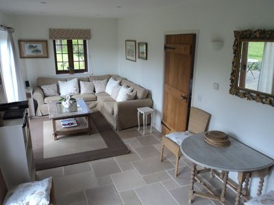 Photo for Stunning 5 Star cottage set in 4 acres in AONB. Close to beach/harbour. Sleeps 4
