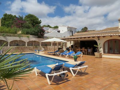 Photo for Nice villa with large terrace and private pool max 7 people